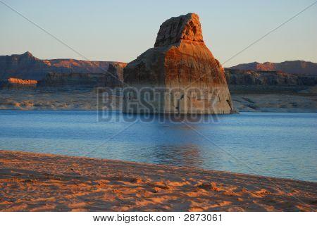 Lone Rock Daybreak
