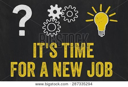Question Mark, Gears, Light Bulb Concept - Its Time For A New Job