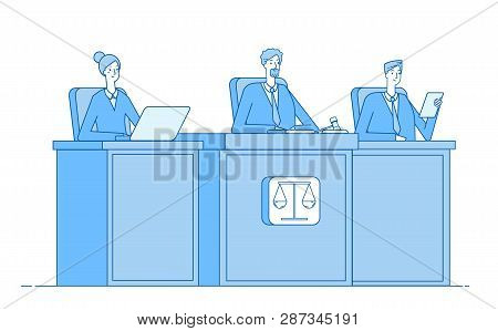 Court Of Justice. Law Court Defendant Proceed Crime Prosecutor Courthouse Justice Criminal Courtroom