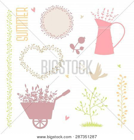 Collection Of Vector Summer Elements For Design. Eps 10