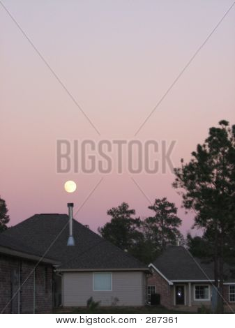 Moon Over Houses