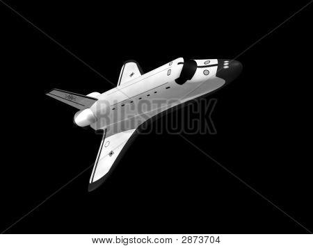 Space Shuttle On Black