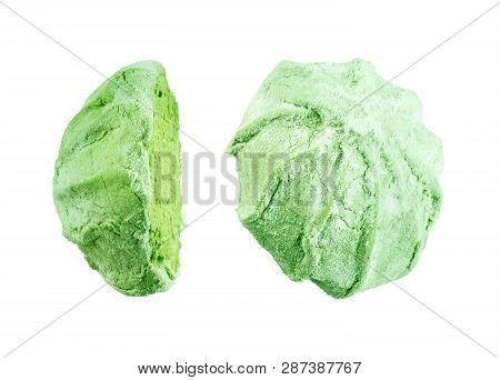 Puffy Marshmallows On A White Background Fattening, Treat, Confection, Confectionery