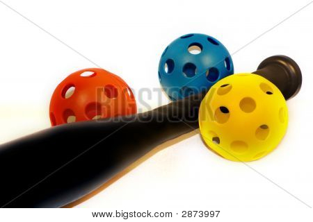 Plastic Baseball Bat And Balls