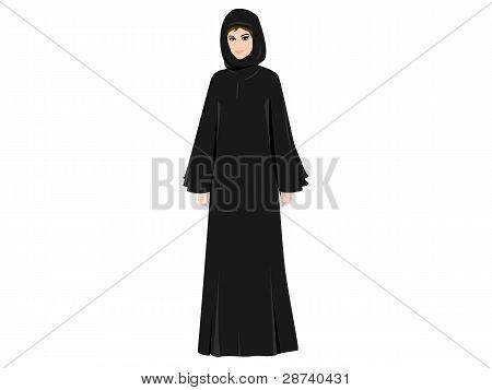 Arab Woman in Abaya