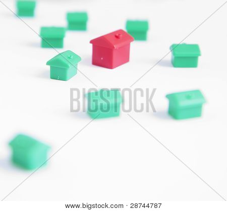 Houses On White