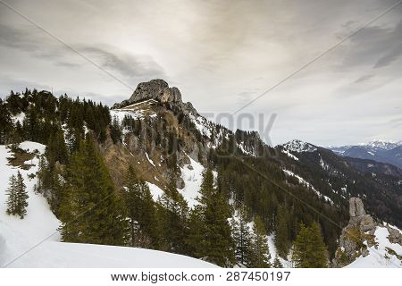 View From Kampenwand, Mountain In Bavaria, Germany