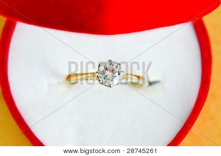Solitaire Diamond Ring In Box