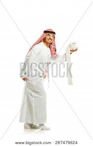 Arab Sheik With Toilet Paper