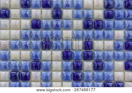 Modern glass mosaic tiles background. Mix color pattern for decoration. Texture tiles surface of bathroom or the kitchen floor and walls design decor