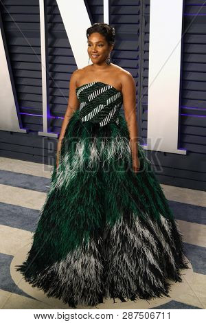 BEVERLY HILLS - FEB 24: Tiffany Haddish at the 2019 Vanity Fair Oscar Party at The Wallis Annenberg Center for the Performing Arts on February 24, 2019 in Beverly Hills, CA