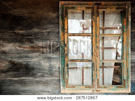 Window Frame And Wooden Wall