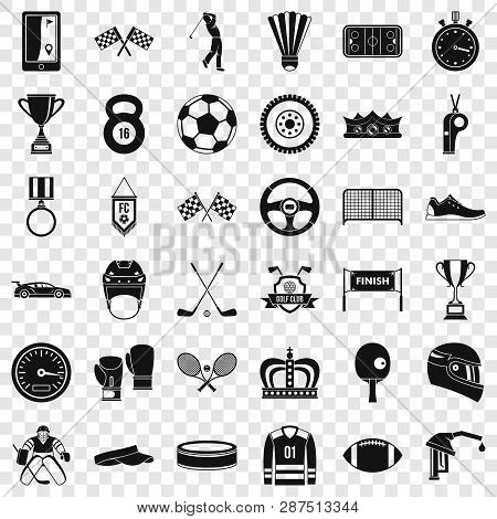 Sport award icons set. Simple style of 36 sport award vector icons for web for any design poster