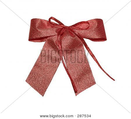 Red Metal Bow With Path
