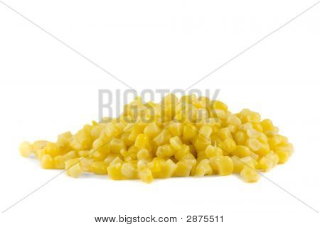 A Pile Of Sweetcorn Isolated On White Background