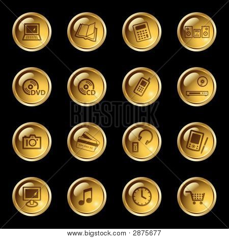 Gold Drop Electronics Icons