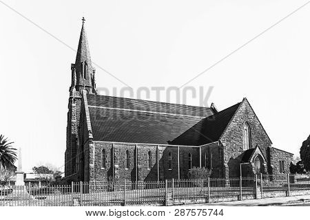 Winburg, South Africa, July 30, 2018: The Dutch Reformed Church In Winburg, A Small Town In The Free