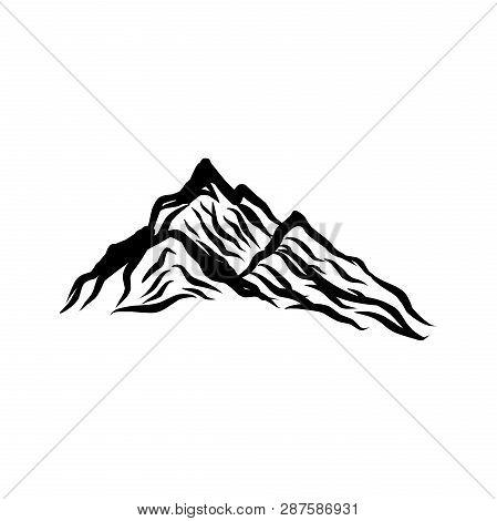 The Mountain Logo Vector, Mountain Symbol, Mountain Icon, Mountain Logo Template. Vector Design Elem