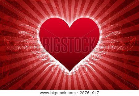 Big Heart Grunge Valentine Card