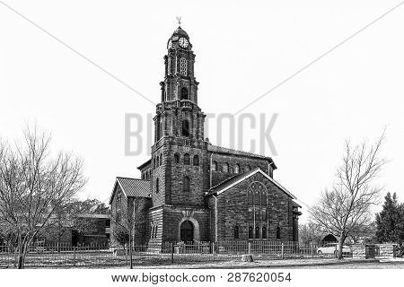 Kroonstad. South Africa, July 30, 2018: The Dutch Reformed Mother Church Kroonstad-north, In Kroonst