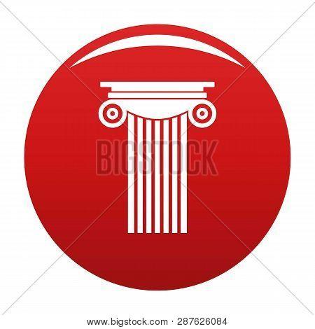 Reinforced Concrete Column Icon. Simple Illustration Of Reinforced Concrete Column Vector Icon For A