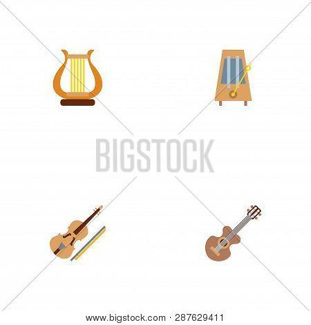Set Music Icons Flat Vector & Photo (Free Trial) | Bigstock