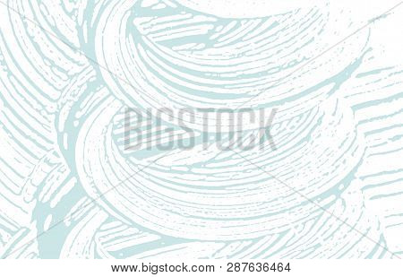 Grunge texture. Distress blue rough trace. Bold background. Noise dirty grunge texture. Alive artistic surface. Vector illustration. poster