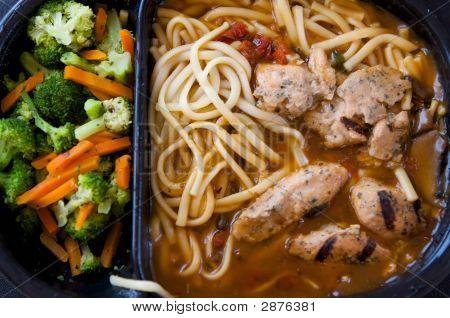 Unappealing Tv Dinner Of Chicken