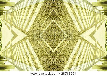 shadow art - yellow diamond