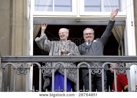 DENMARK / COPENHAGEN 2012-01-15- H.M.The Queen Margrethe Celebrate her 40 years jubilee as queen of Denmrk on thorne today Consrot Prince Henrik(husband)crown prince Frederik crown princess Mary and princes Chriatian.princess isobela and other grand price