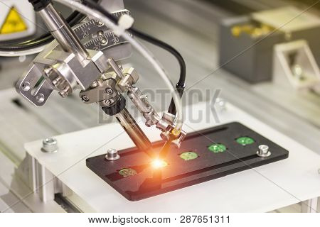 Automation Robot Point Soldering For Assembly Electric Circuit Board (pcb)  At Factory
