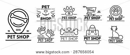 Pet Store Icons Set. Outline Set Of Pet Store Vector Icons For Web Design Isolated On White Backgrou
