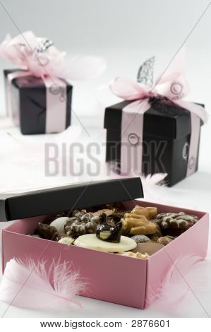 Chocolate Presents. Pralines.