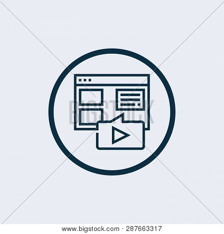 Video Player Icon Vector Icon On White Background. Video Player Icon Modern Icon For Graphic And Web