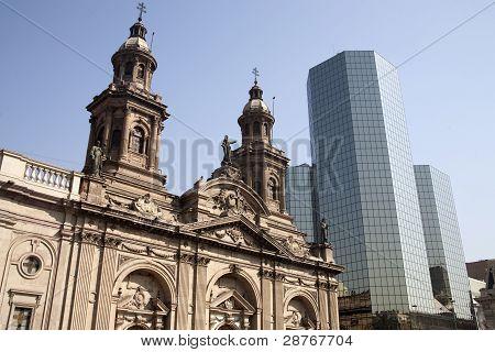 La Plaza de armas de Santiago de Chile