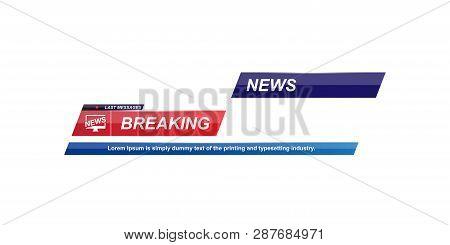 Breaking News Vector & Photo (Free Trial) | Bigstock