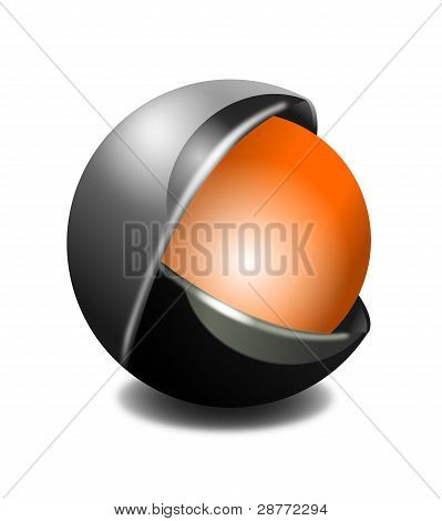 3D Business Icon - Metallic Orb