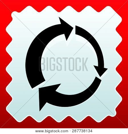 Icon with circular arrow - Revise, centrifuge, synchronize concepts poster