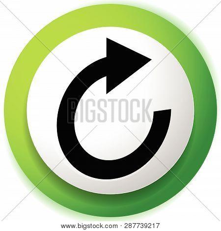 Circular Arrow Icon. Revolve, Rotate, Iteration Concept Icon