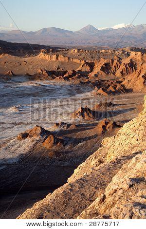 Moon Valley in Atacama desert