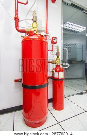 Fm-200 Suppression Systems, Chemical Tank Used For Extinguishing  Fm200 Gas Flooding System, Gas Sup