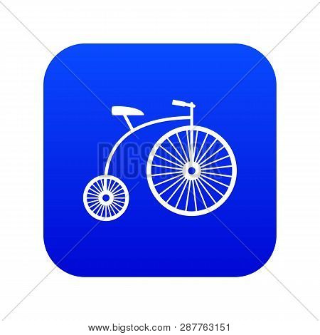 Penny-farthing Icon Digital Blue For Any Design Isolated On White Vector Illustration