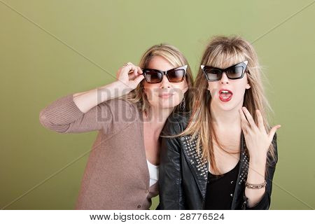 Playful Mom And Daughter