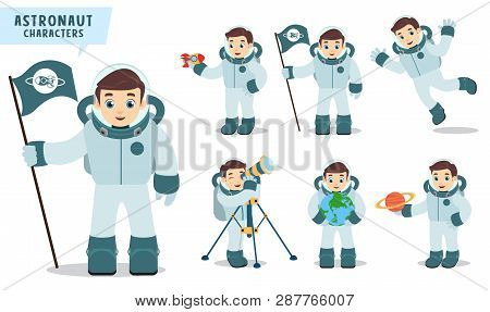 Astronaut Man Vector Vector & Photo (Free Trial) | Bigstock