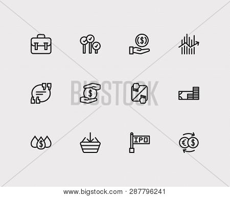 Trading Icons Set. Quote And Trading Icons With Invest Money, Liquidity And Forex. Set Of Transactio