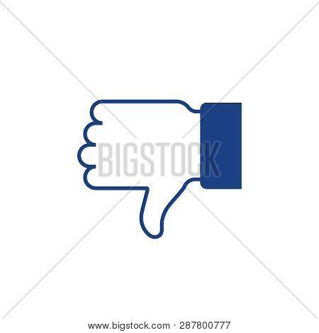 Dislike Hand Thumb Down. Thumb Up Symbol, Finger Up Icon. Like And Dislike Icon
