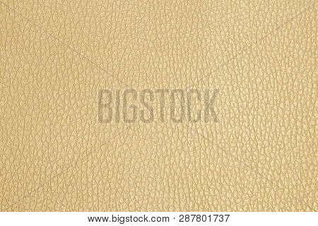 Closeup Texture Of Brown Leather For Background