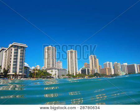 Hotels On The Shore Of Waikiki, Oahu