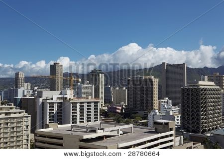 Downtown Buildings In Hawaii Daytime