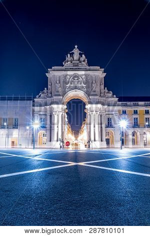 The Praca Do Comercio (english: Commerce Square) Is Located In The City Of Lisbon, Portugal. It Is S